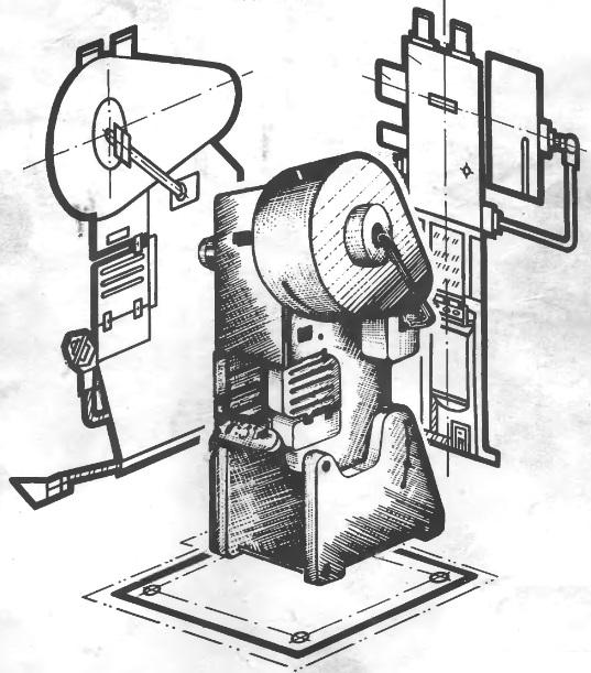 Назначение технического устройства.  Прессы однокривошипные открытые простого действия усилием 100, 160, 250...
