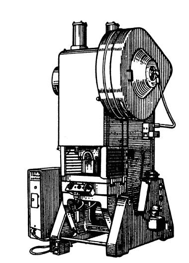 Пресс однокривошипный усилием 630кН КД2128К
