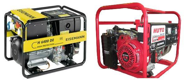 Использование газовых генераторов однофазных и трехфазных