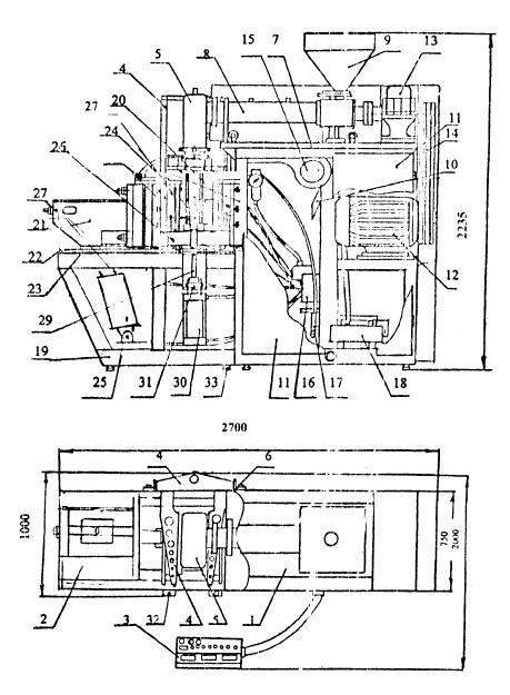 Полуавтоматическая выдувная установка ПВМУ