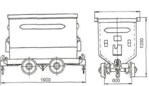 Вагонетка шахтная грузовая ВГ-1,2-600, ВГ-1,2-750