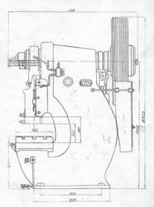 Пресс кривошипный одностоечный усилием 100т К-117Е