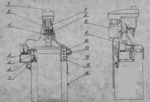 Станок вертикальный резьбонарезной 2054М