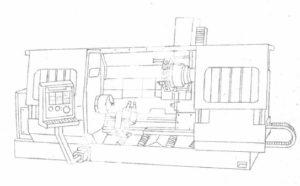 Полуавтомат токарный с ЧПУ 1740РФ3